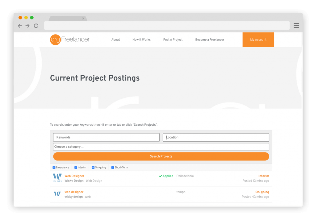 Project Postings- how it works